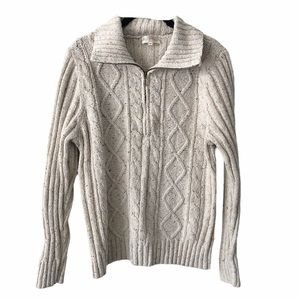 Northern Reflections Cable Knit 1/4 Zip Sweater XL
